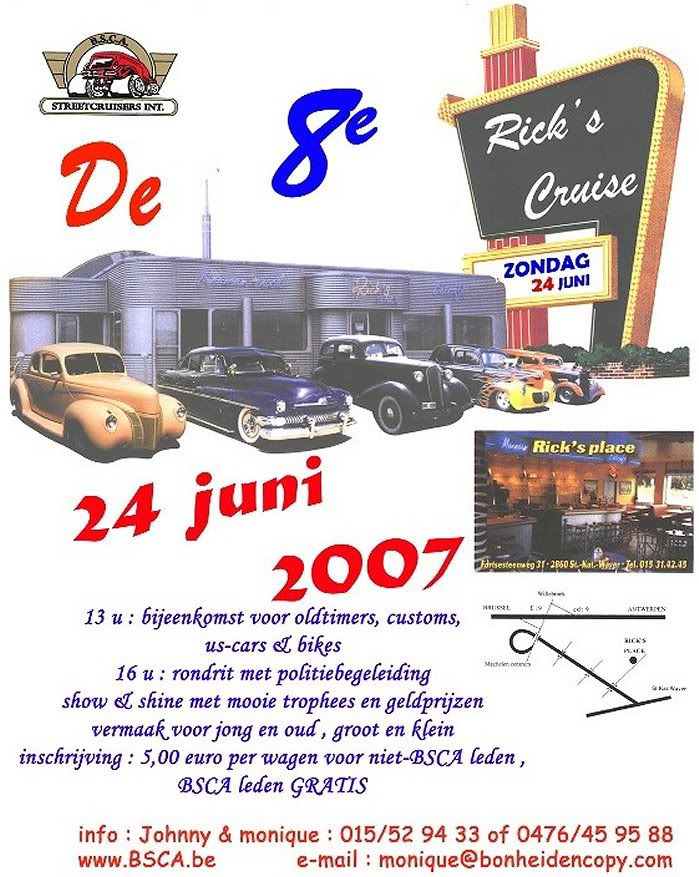 8th Ricks's Cruise, Sint-Katelijne-Waver, Dimanche 24 juin 8thRicksCruise