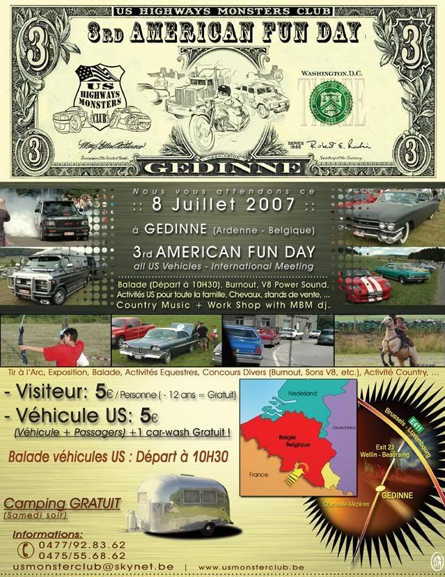 3rd American Fun Day, Gedinne, 8 Jullet (Ardenne, Belgique) USMonsters