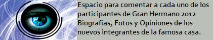 PARTICIPANTES DE GH2012