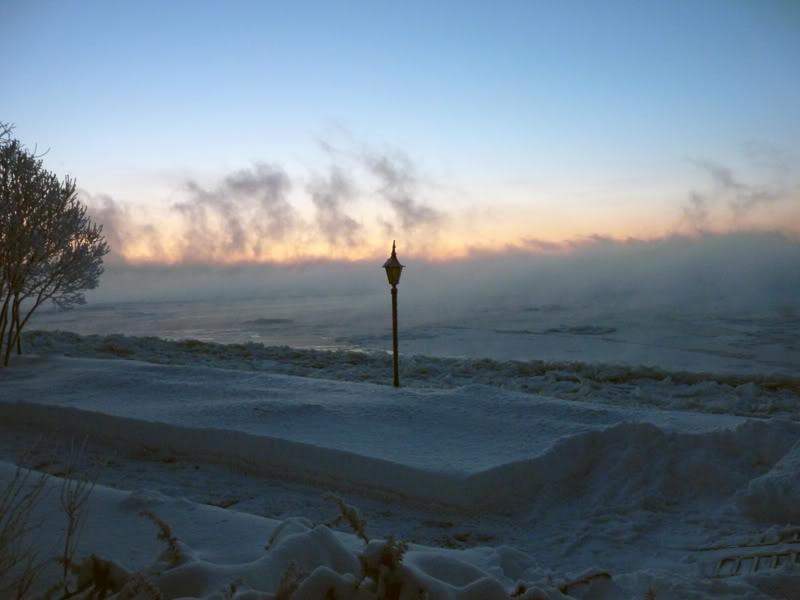 Lever du soleil chez moi ce matin à 5 h. 15.photo Janvier2012014