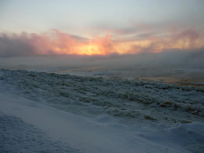 Lever du soleil chez moi ce matin à 5 h. 15.photo Janvier2012030