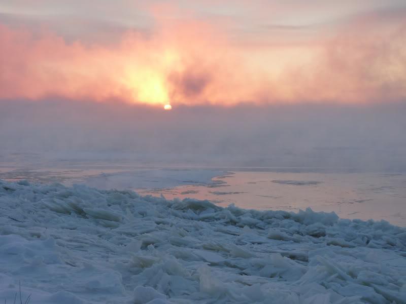 Lever du soleil chez moi ce matin à 5 h. 15.photo Janvier2012035