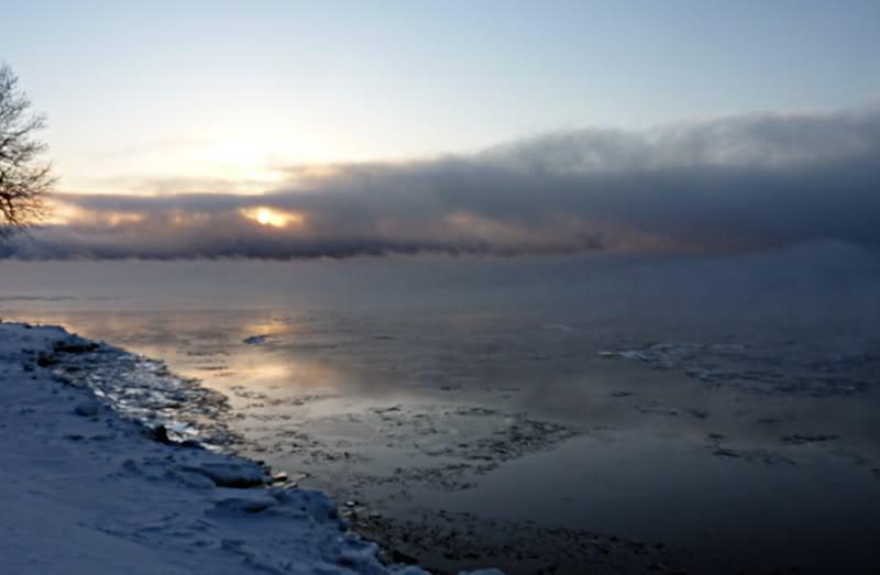 Lever du soleil chez moi ce matin à 5 h. 15.photo Fvrier2012169