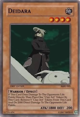 Yu-Gi-Oh Deidaraa DeidaraCard