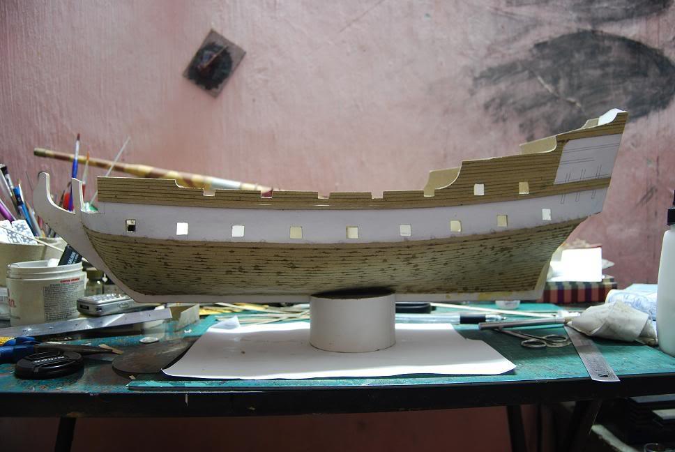 Black Pearl en papier Hull4