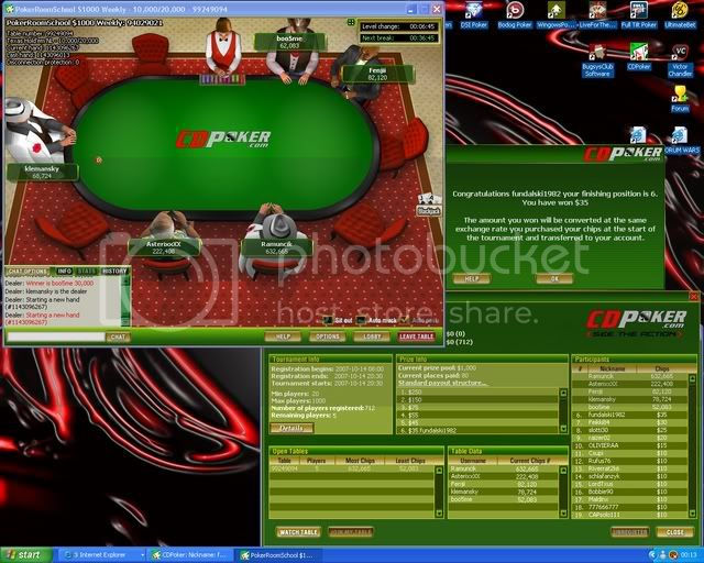 6TH Not Quite  A Win but.......... 6thPokerTourney