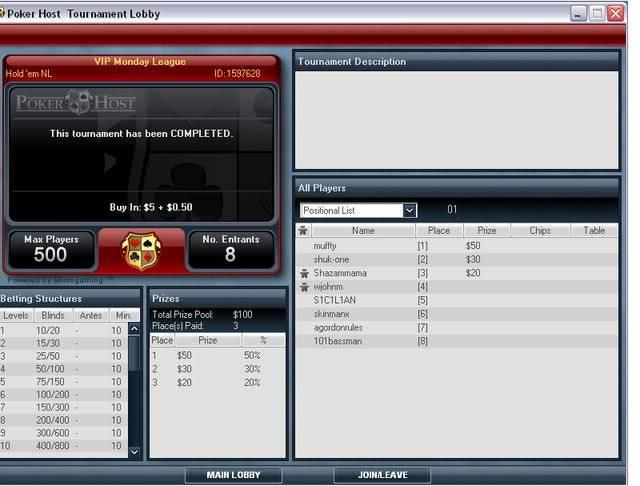 Thankyou Poker Host VIP1