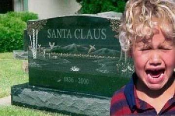 you got it kids - santa claus is dead for delivering you presents Santagrave