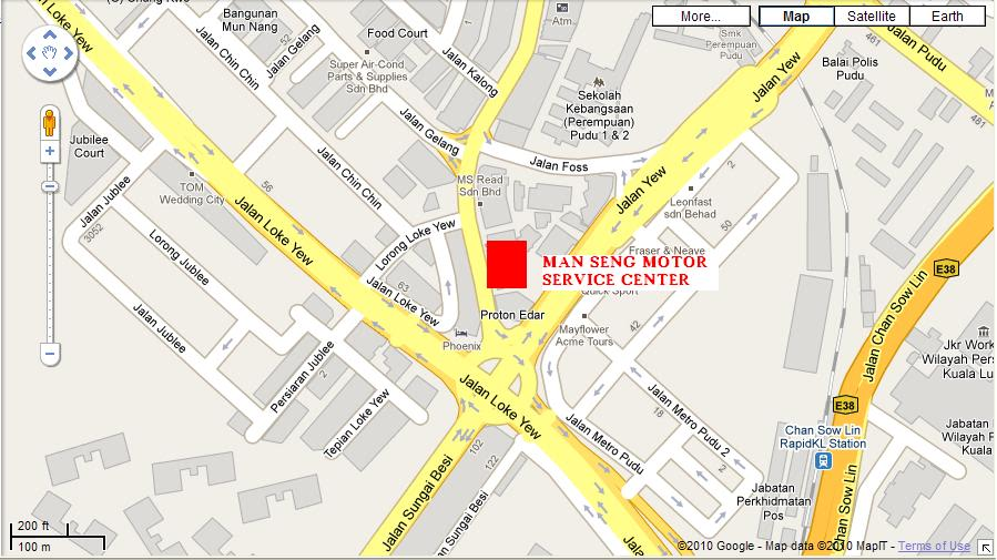 Lokasi Bengkel/Servis Center Yang Selalu Anda Pergi Manseng