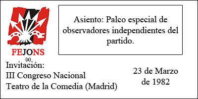 III Congreso Nacional Falange Española de las JONS Auténtica Entrada-1