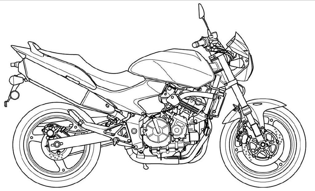 Motorcycle Line Art 59902