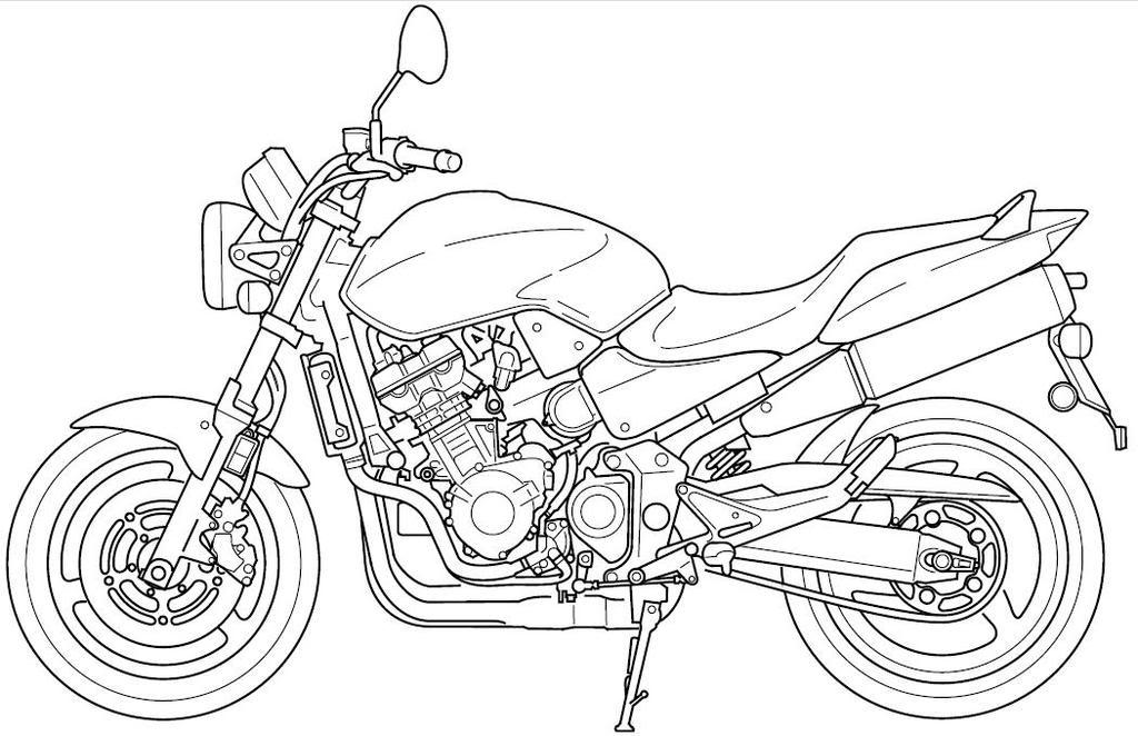 Motorcycle Line Art 919