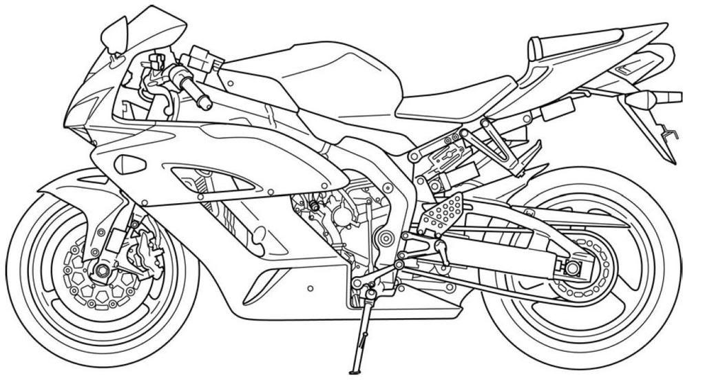 Motorcycle Line Art CBR1000RR