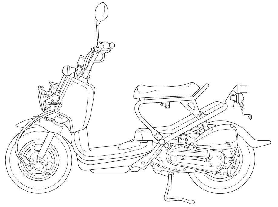 Motorcycle Line Art RUCKUS