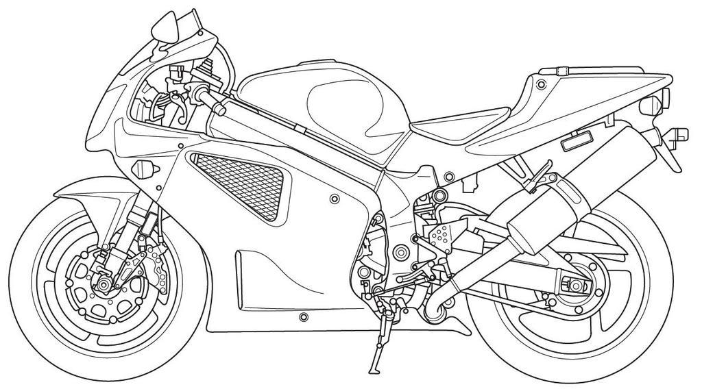Motorcycle Line Art RVT1000R