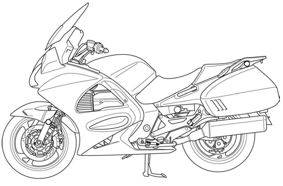 Motorcycle Line Art ST1300