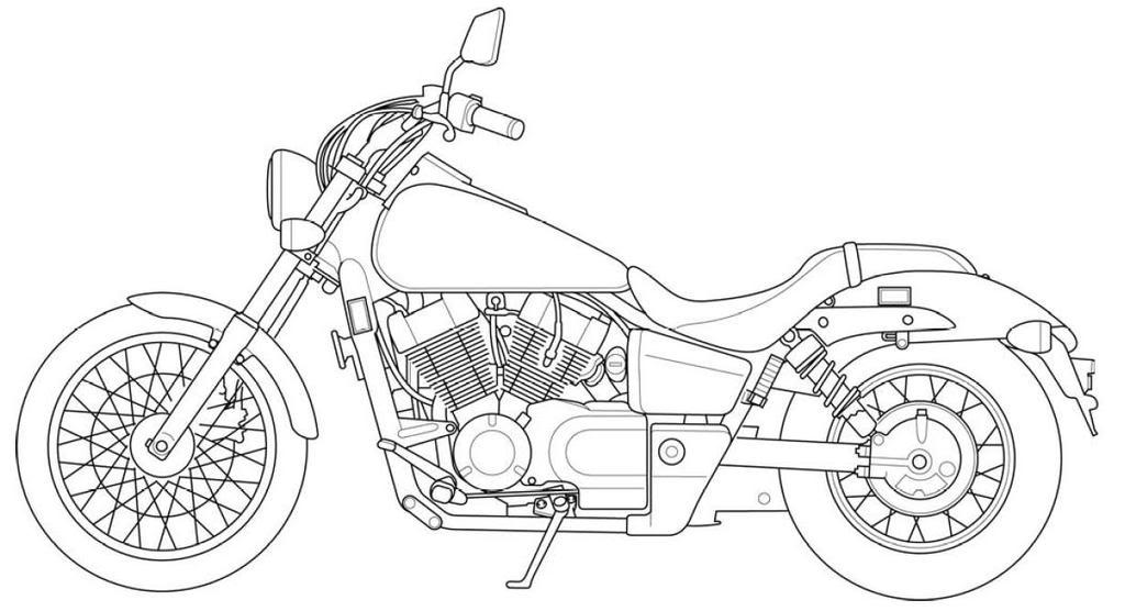 Motorcycle Line Art VT750C2