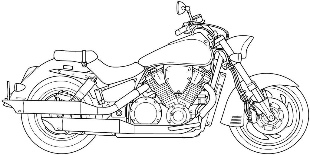 Motorcycle Line Art VTX1800R