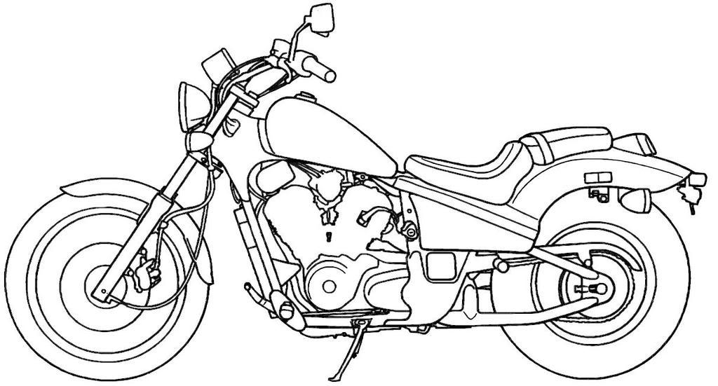 Motorcycle Line Art Vt600