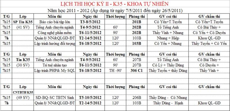 Lịch thi Học Kì VI- K35 Lichthihoccuoi