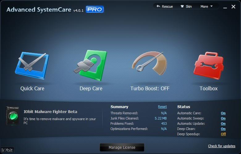advanced systemcare key pro Avande