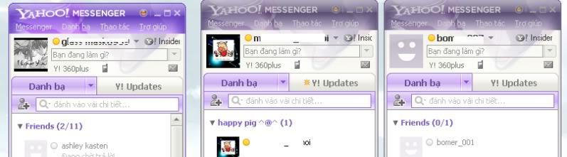 Chat nhiều nick với yahoo Gh