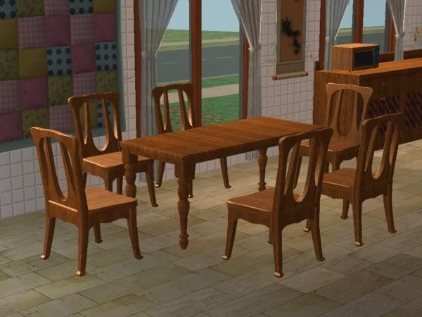 Cocina Hobbies Madera Oscura/Kitchen Free Time Dark Wood 2d