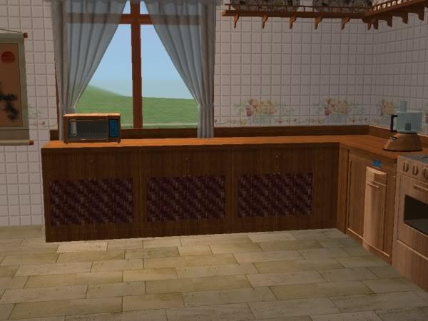 Cocina Hobbies Madera Oscura/Kitchen Free Time Dark Wood 4d