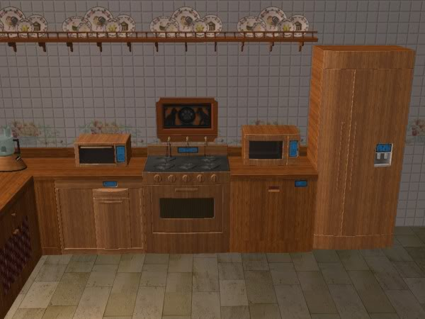 Cocina Hobbies Madera Oscura/Kitchen Free Time Dark Wood 6d