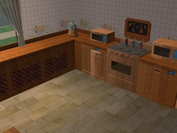 Cocina Hobbies Madera Oscura/Kitchen Free Time Dark Wood 7d