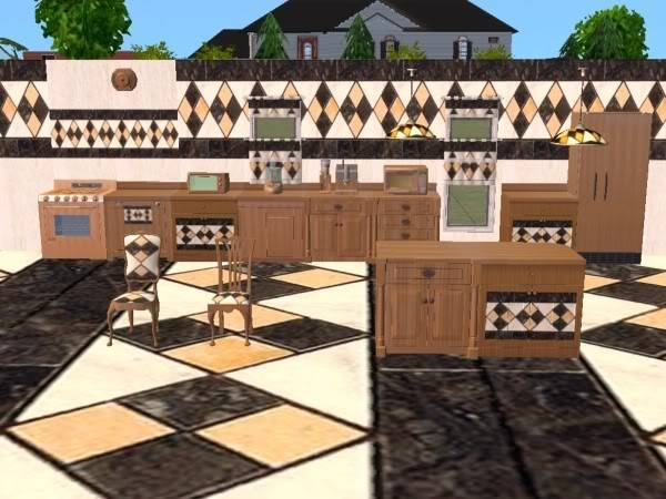 Cocina Traventino/Kitchen Traventino SET_1