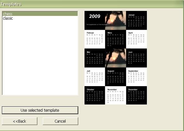 Софтуер за календари. Тамплейти за календари 13