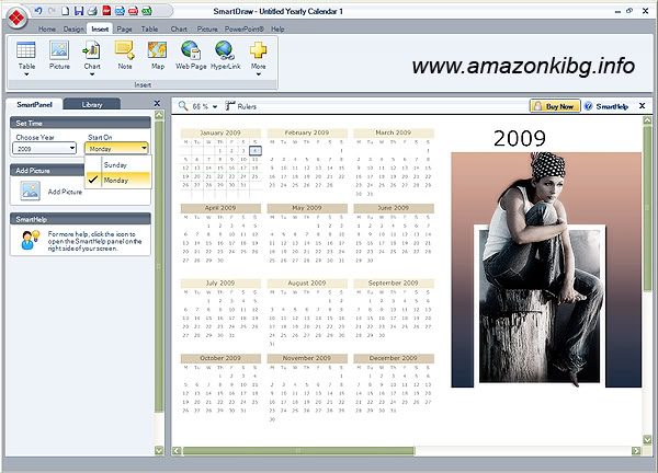 Софтуер за календари. Тамплейти за календари 3
