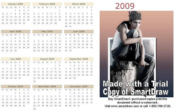 Софтуер за календари. Тамплейти за календари 7