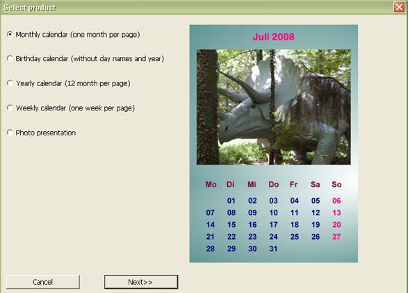 Софтуер за календари. Тамплейти за календари 8