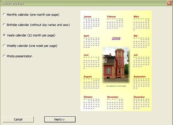 Софтуер за календари. Тамплейти за календари 9