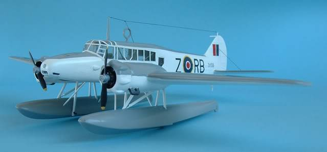 Airfix 1/72 Avro Anson Floatplane Trainer. SAAFAnsonfrontLEFT