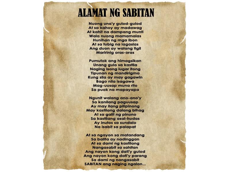 """Alamat ng Sabitan"" Tulanonoise"