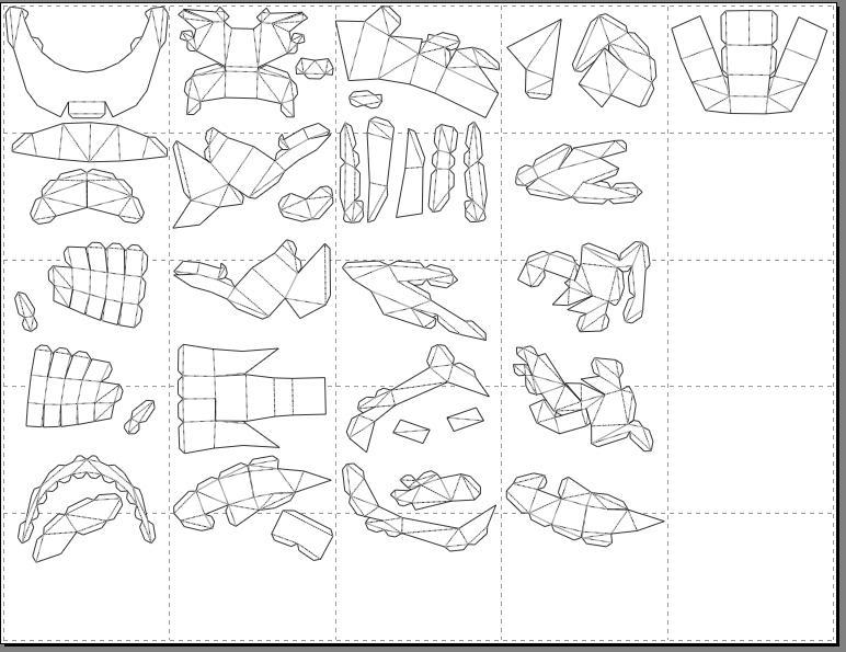 How to use pepakura to make your armor - The newest armor files, some steps can be skipped, so keep a keen eye out Tut10