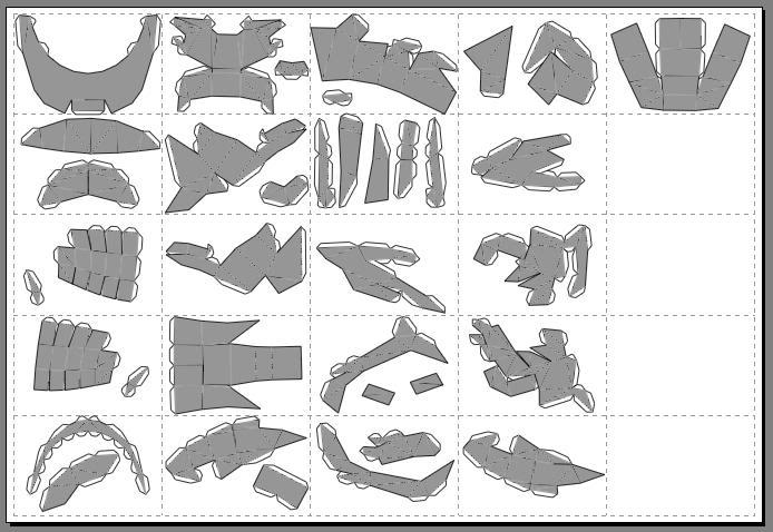 How to use pepakura to make your armor - The newest armor files, some steps can be skipped, so keep a keen eye out Tut4