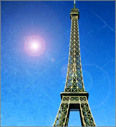 eiffle tower// Eiffletowerlensflare