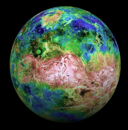 PLANETE I SATELITI Venus-surface-elevation-map