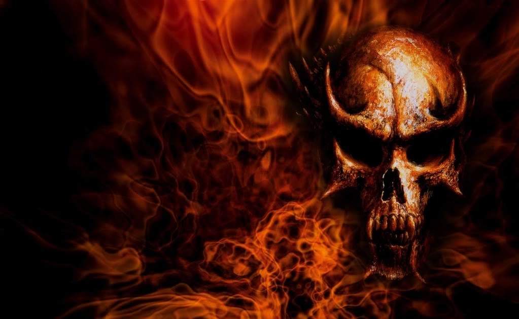 Photoshop 101 The making of the DOOIVI header Flaming-Skull