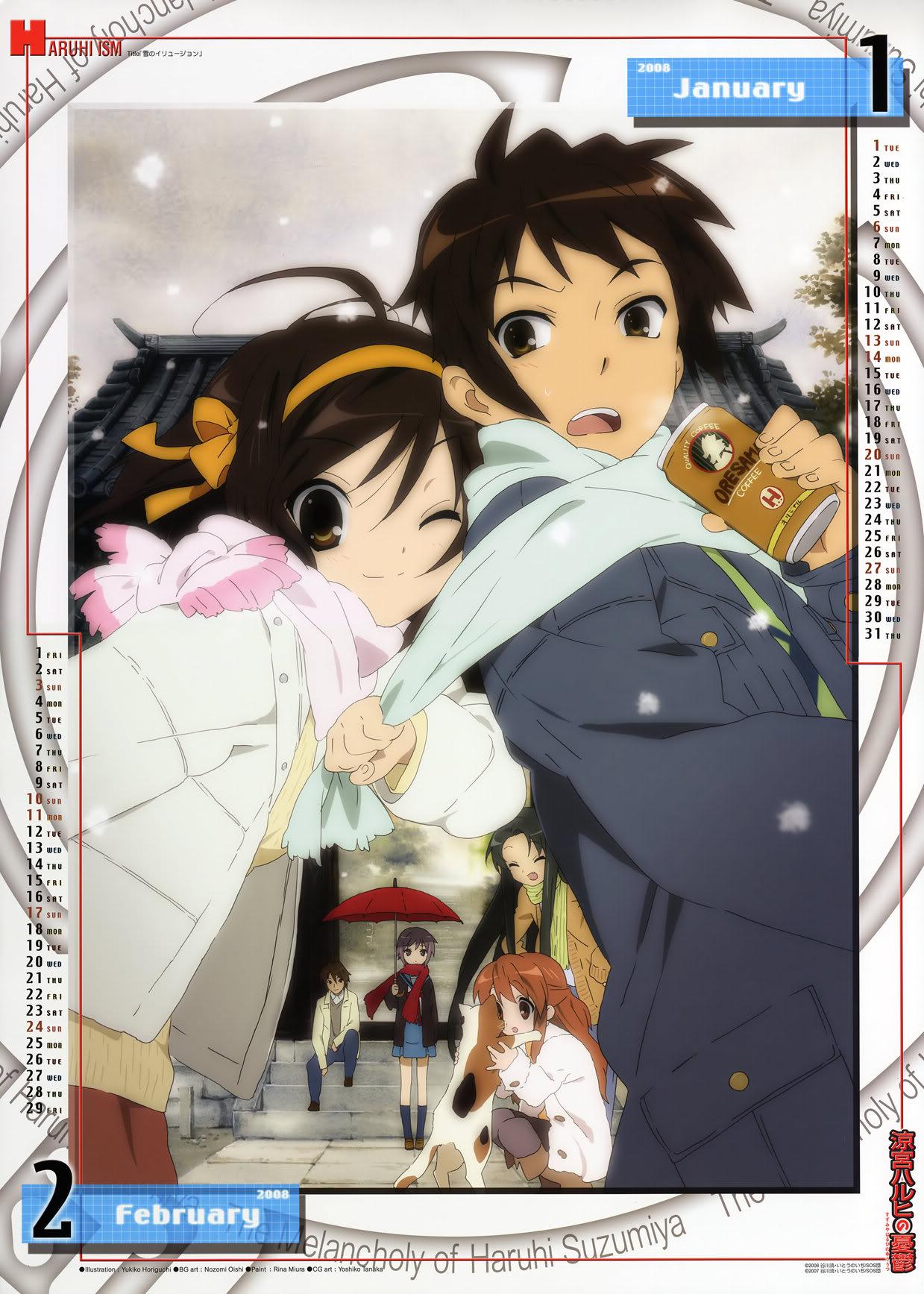 [MG] Suzumiya Haruhi no Yuuutsu Calendario 2008 SHnY2008_EneroFebrero