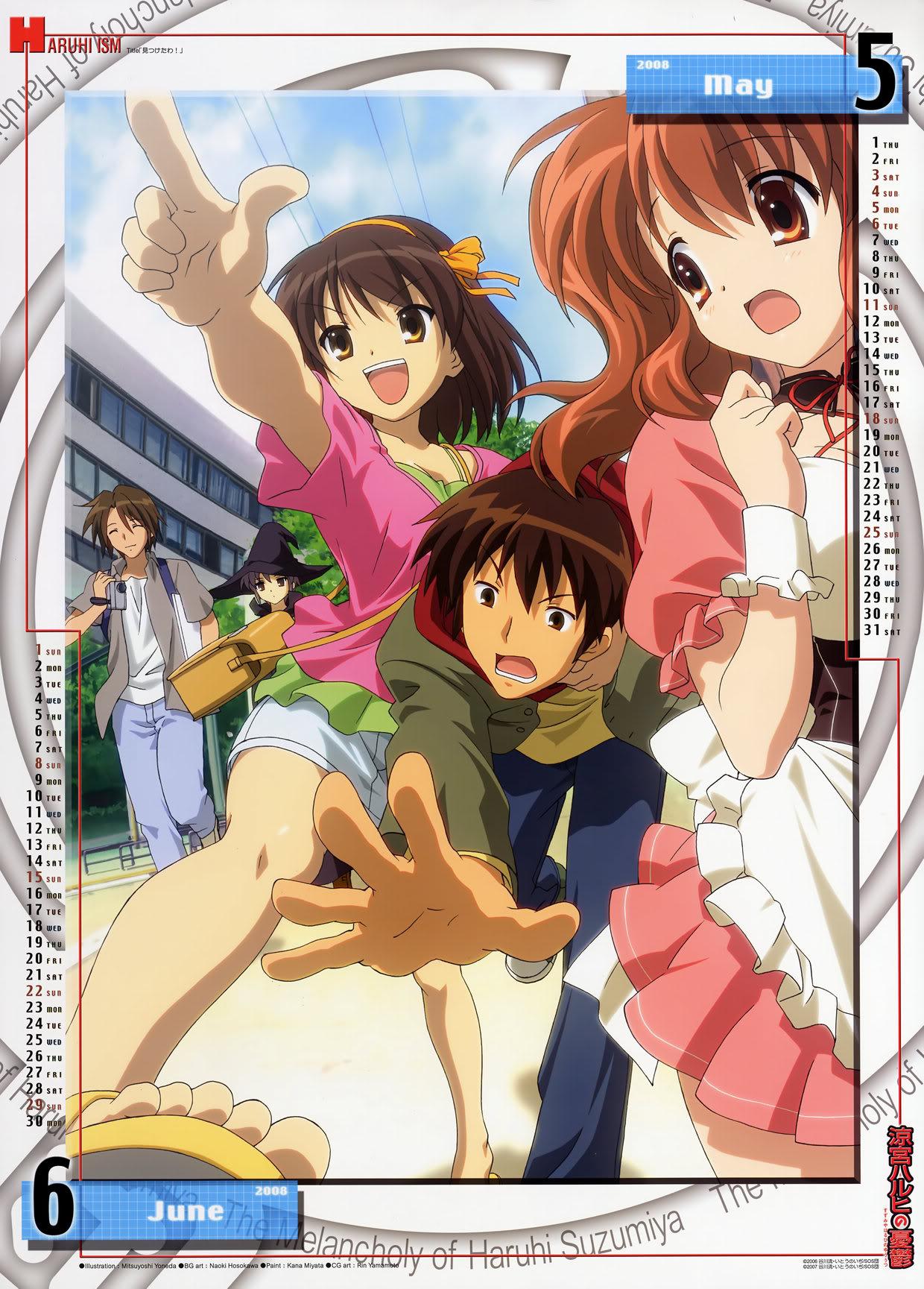 [MG] Suzumiya Haruhi no Yuuutsu Calendario 2008 SHnY2008_MayoJunio