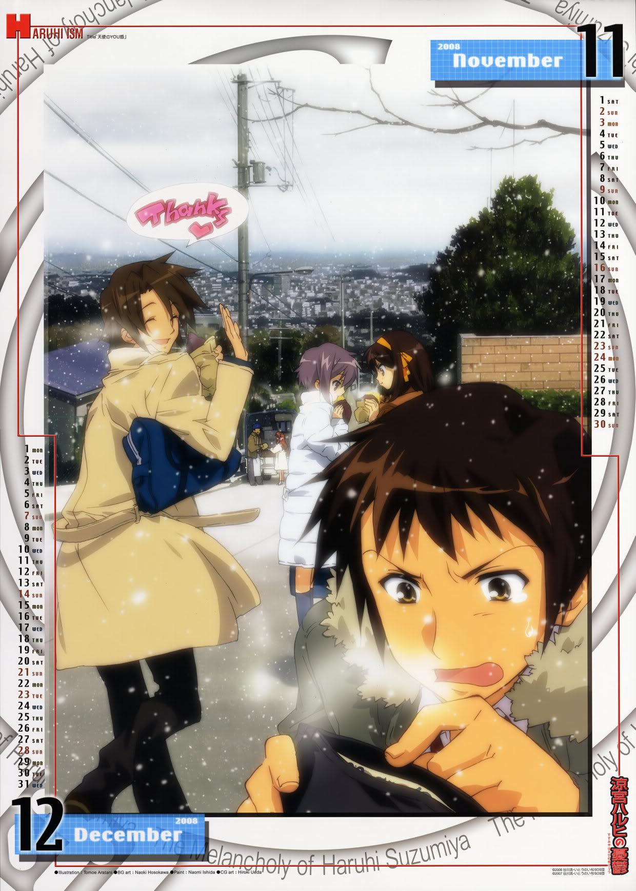 [MG] Suzumiya Haruhi no Yuuutsu Calendario 2008 SHnY2008_NoviembreDiciembre