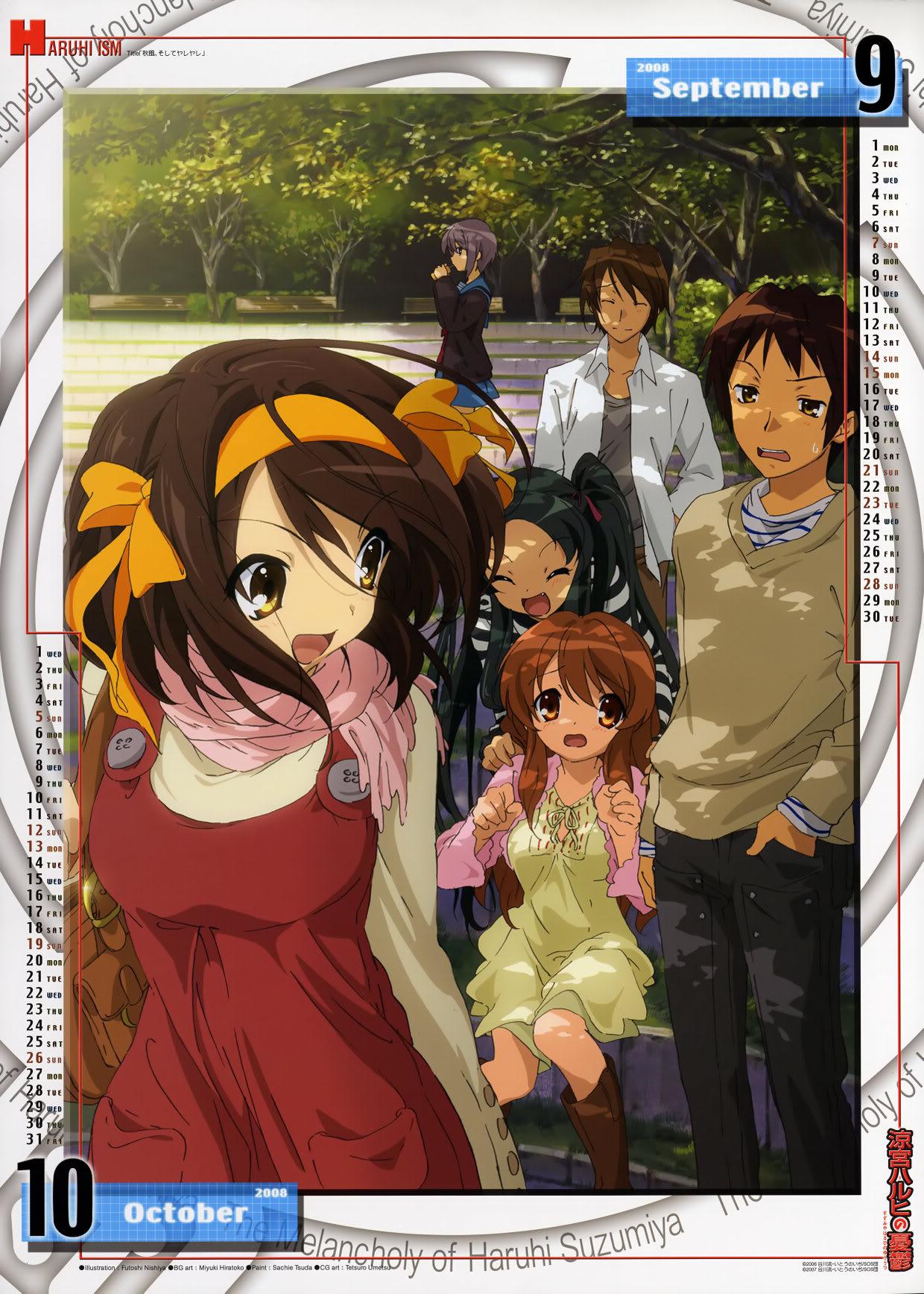 [MG] Suzumiya Haruhi no Yuuutsu Calendario 2008 SHnY2008_SeptiembreOctubre
