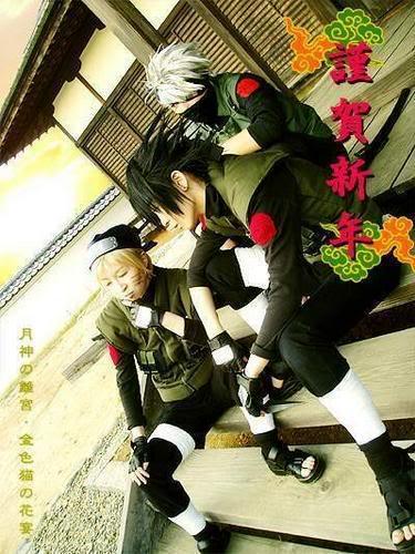 Cosplays de Naruto Sasukenarutokakashi