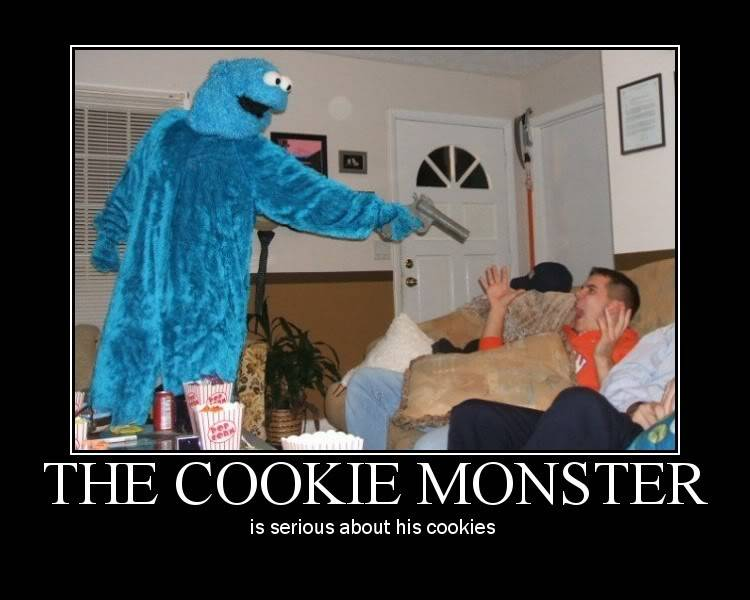 Because CookieMobsters aren't Baked Goods... The-cookie-monster