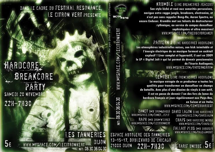 HARDCORE BREAKCORE PARTY@Tannerie (Dijon) 20/11/2010 Hardcoredijonpaysage